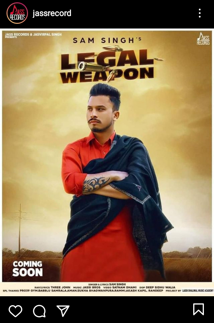 """Legal Weapon"" By Sam Singh To Be Released Soon"