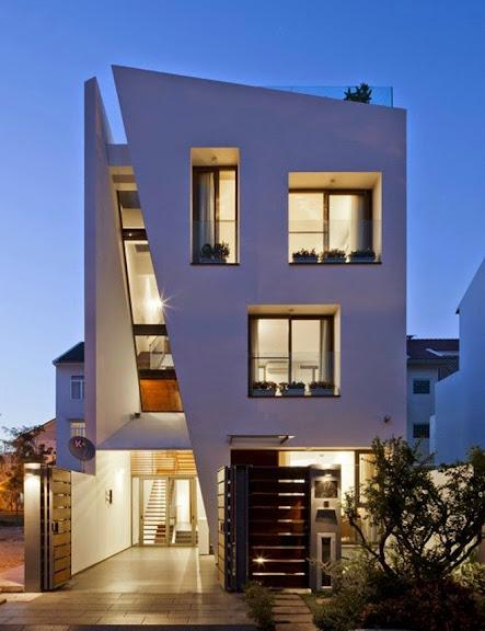 Ngôi nhà đẹp với thiết kế cầu thang siêu độc đáo
