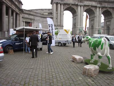 Biogazowa krówka w Brukseli