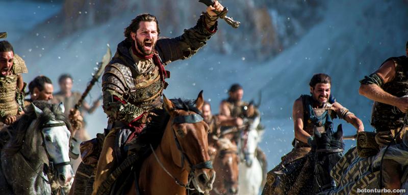 Daario encabezando las hordas Dothrakis