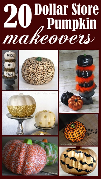 20 Dollar Store Pumpkin Makeovers