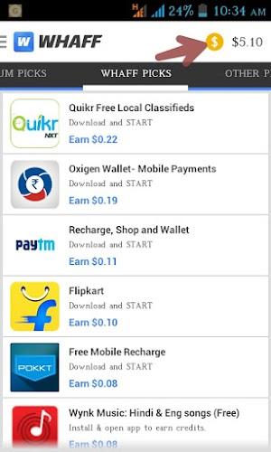 Whaff app (Sign-up bonus Rs.20 +  invite & earn Rs. 20) | proof added