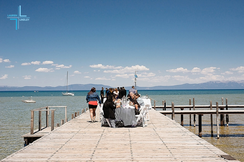 Tahoe Pier Wedding Reception