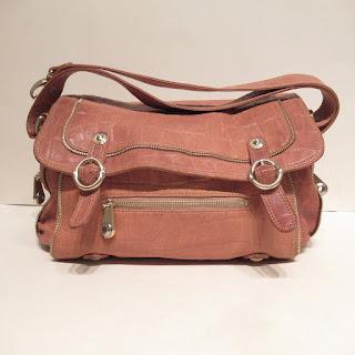Henri Bendel Embossed Leather Shoulder Bag