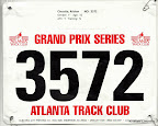 ATC August 5K, my race bib