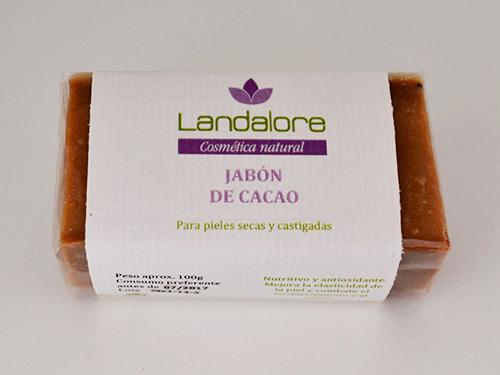 Jabón Natural de Cacao Landalore