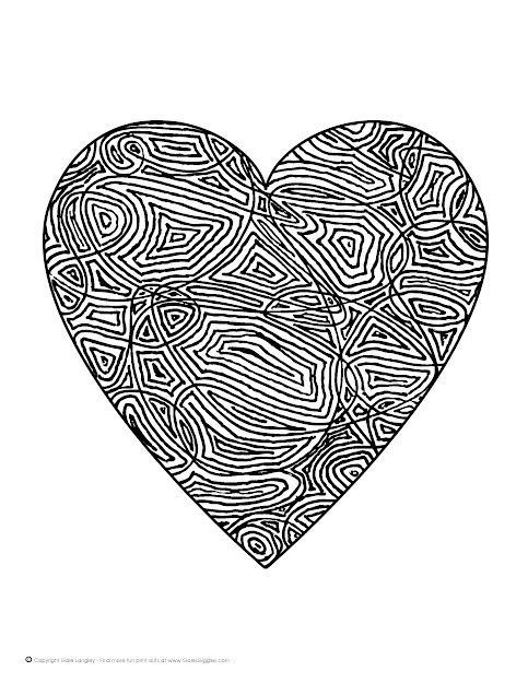 Free Coloring Pages Of Hearts For Teenagers Difficult