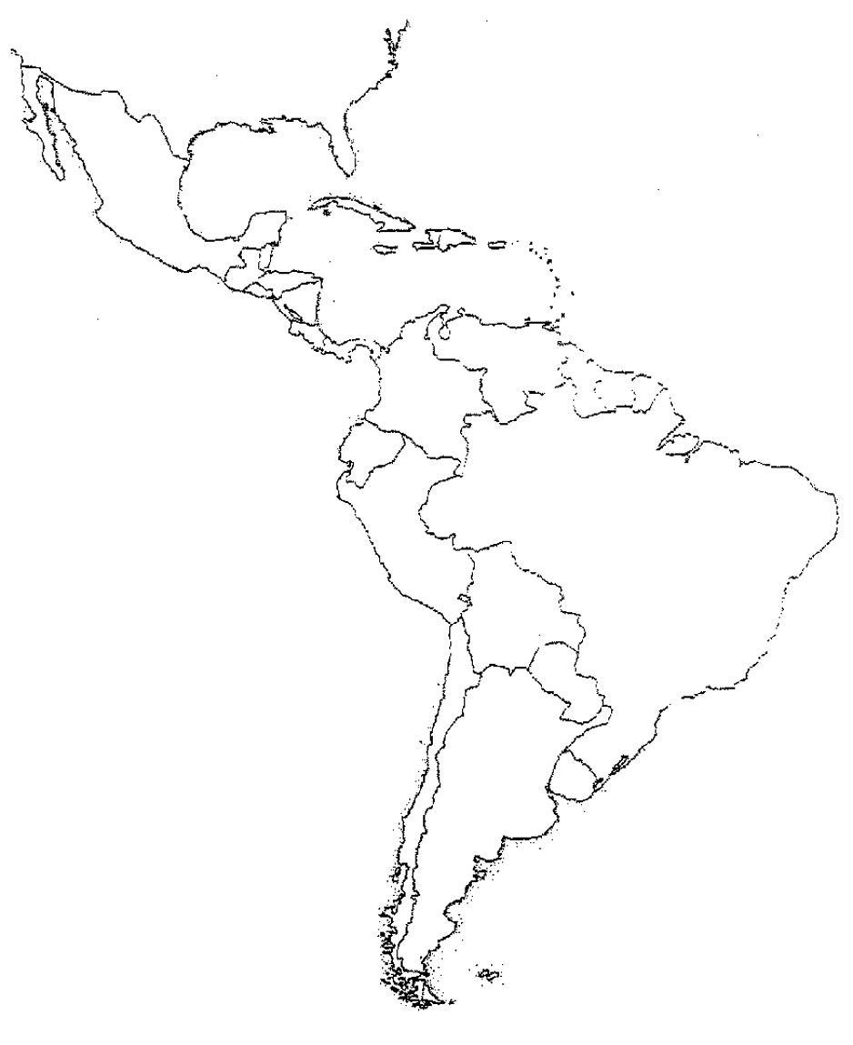 Maps Of The Americas Page  South America Map Number Free Outline - Outline map of usa and mexico
