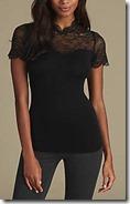 Marks & Spencer Heatgen Thermal Lace Trimmed Short Sleeved Top