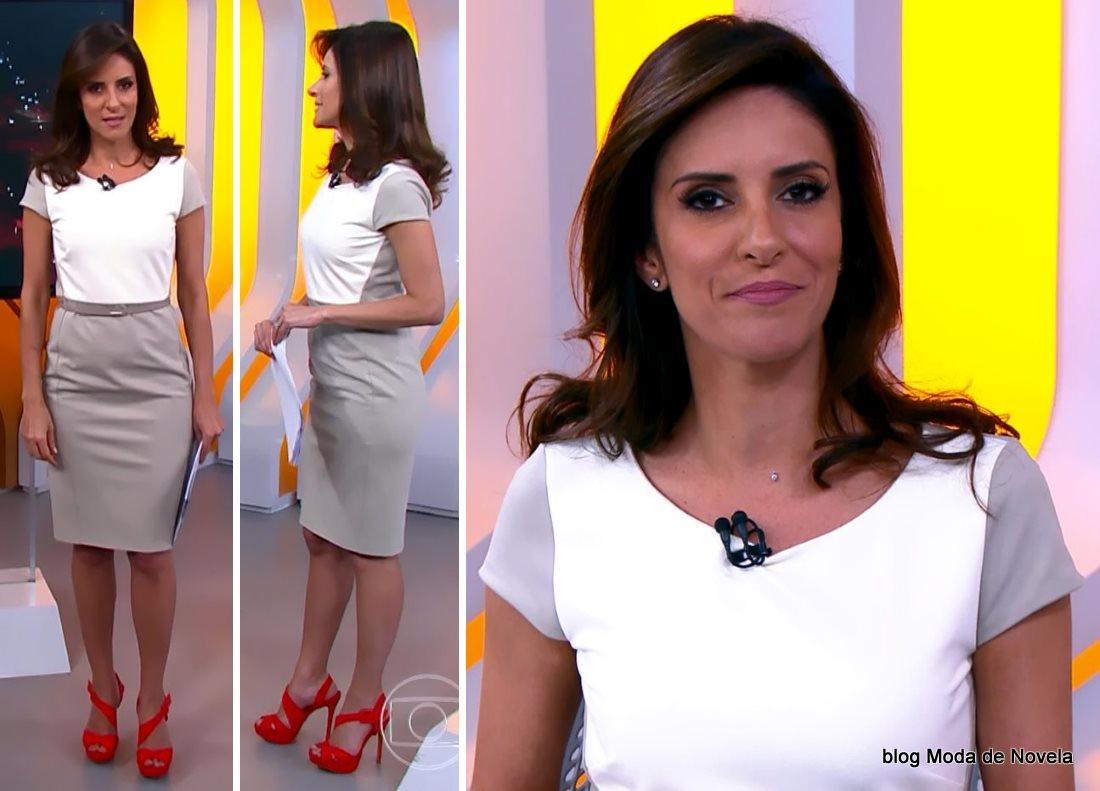moda do programa Hora 1, look da Monalisa Perrone dia 16 de dezembro