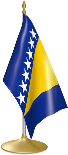 Bosnian  table flags - desk flags
