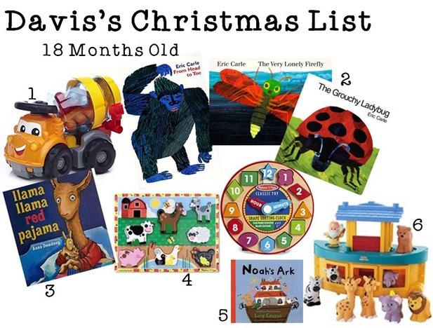 Davis's Christmas List
