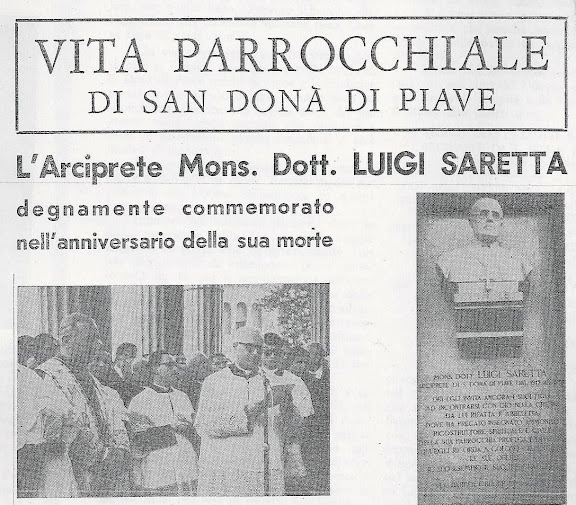 La pagina del Foglietto Parrocchiale del 13 giugno 1965 con la cronaca dell'evento