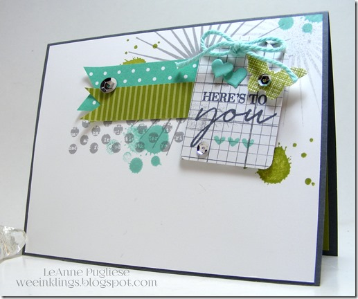 LeAnne Pugliese WeeInklings Watercolor Wishes Kinda Eclectic Stampin Up