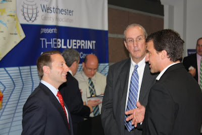 Westchester county association county executive rob astorino left and deputy county executive kevin plunkett center show their support for wcas blueprint for westchester economic malvernweather Images