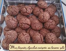 Mes biscuits chocolat-noisette au beurre salé