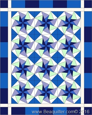 kaleidoscope blue blocks