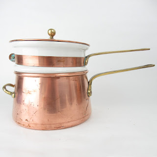 Copper Double Boiler Pan