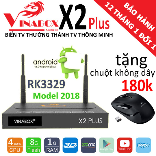 vinabox x2 plus 2018