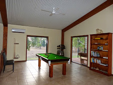 Pool table upstairs in the lodge