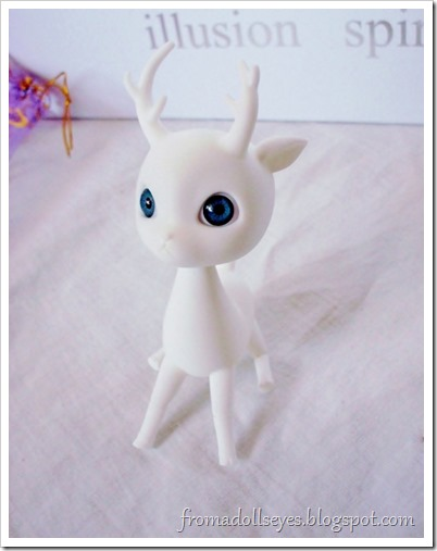 A cute little ball jointed deer doll.  It was on sale for a super low price with the purchase of certain items as part of an event.