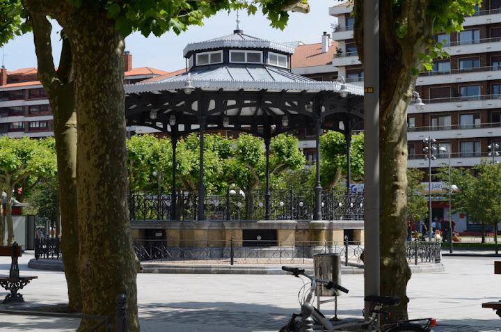 Plaza del Ensanche de Irún, en la provincia de Guipúzcoa