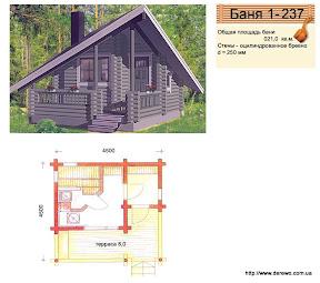 Проект бани 1 - 237
