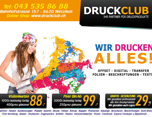 Druckclub Druckerei Copy Shop Grafik In Wetzikon