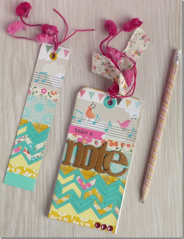 Anna Draicchio - sizzix big shot - notes bookmark (1)