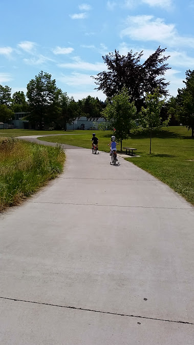 Bike riding in the sun