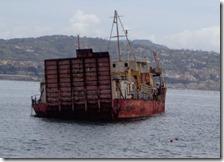 Il relitto della Sassari I nel mare di Baia