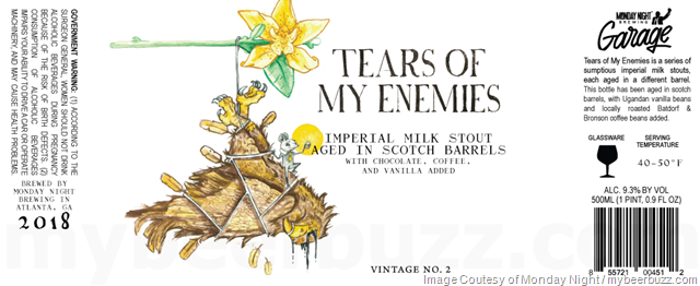 Monday Night Brewing - Tears Of My Enemies Barrel-Aged Variants