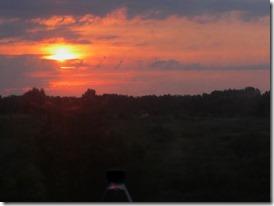 coucher de soleil sur la siberie