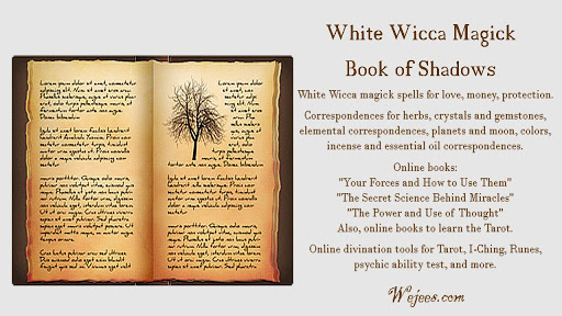 Book of Shadows White Wiccan Magick Grimoire - Apps on