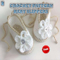 Crochet Pattern Baby Slippers icon