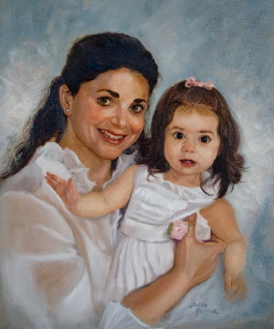 """""""Mommy and Me"""" by artist Sharon Hopper."""