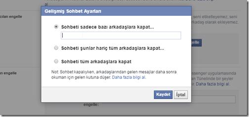 facebook-sohbet-ayarları