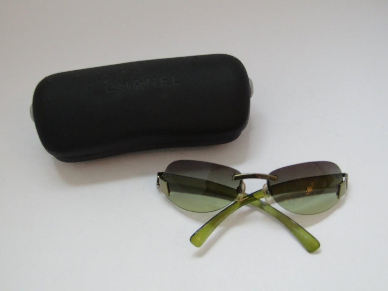 Chanel Green Tint Sunglasses