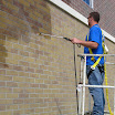 A-Tech Masonry and Brick Sealer siloxane water repellent treats brick, mortar joints and concrete lintels.