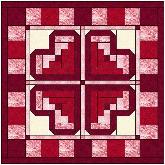 Pattern For Log Cabin Heart Quilt : Scrappy Log Cabin Heart Quilted Pillow Cover (An Ikea Hack) - The Kim Six Fix