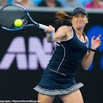 Alexandra Dulgheru in action at the 2016 Australian Open