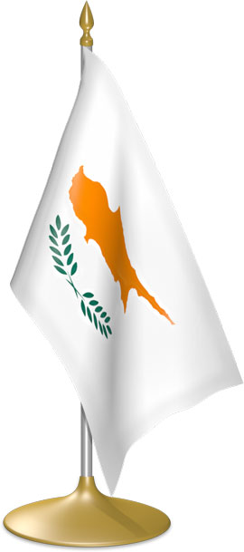 Cypriot table flags - desk flags