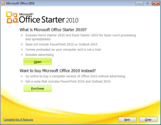 Descargar Microsoft Office Starter 2010