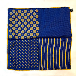 Saks Fifth Avenue 4-Print Blue Pocket Square
