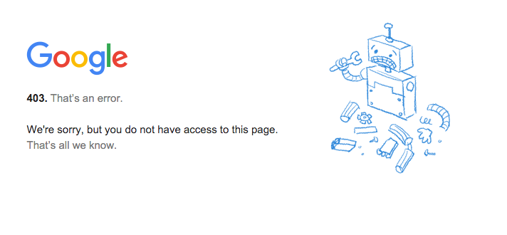 what i get when i try to get to login to my admob account