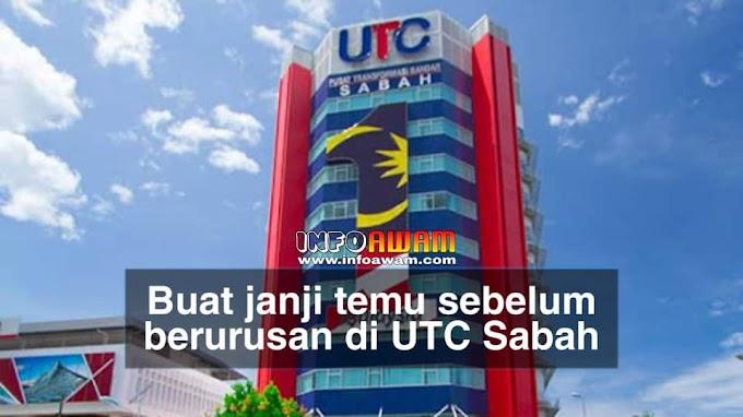 COVID-19: Buat janji temu sebelum berurusan di UTC Sabah
