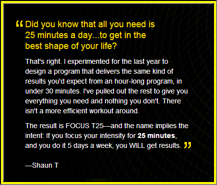 Focus T25 from Shaun T