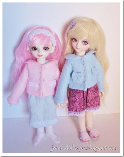 Cute little coats for ball jointed dolls made from craft felt.