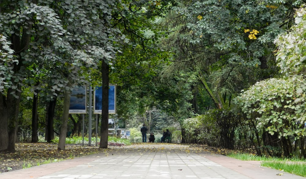 this long, narrow park is on the way to the Metro I take to the central offices....