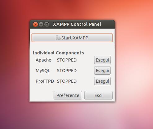 XAMPP Control Panel su Ubuntu 12.04